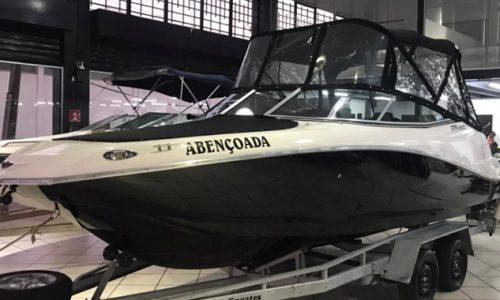 Lancha FS 205, Evinrude G2 de 175 hp, náutica, capota, reboque rodoviário
